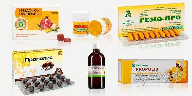 Аптечные препараты из прополиса