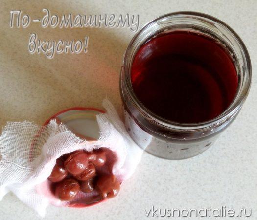 вишневая настойка на водке пошаговый рецепт