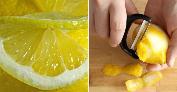 получение лимонной корки