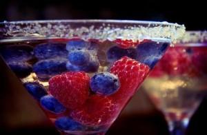 ягоды в мартини
