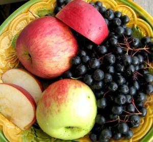 наливка на яблоках и черной рябине
