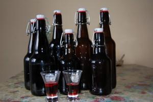 бутылки с настойкой