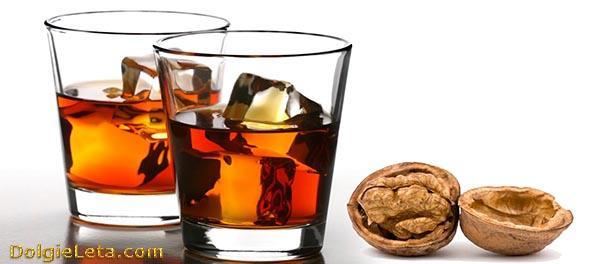 Рецепт приготовления настойки из перегородок (перепонок) грецких орехов на спирту.