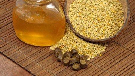Прополис, мед и пыльца