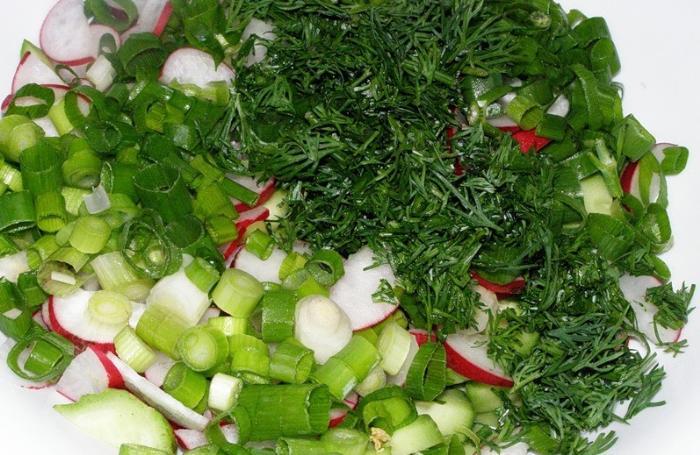 Салат с укропом