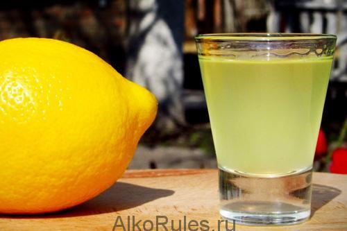 Настойка из лимона