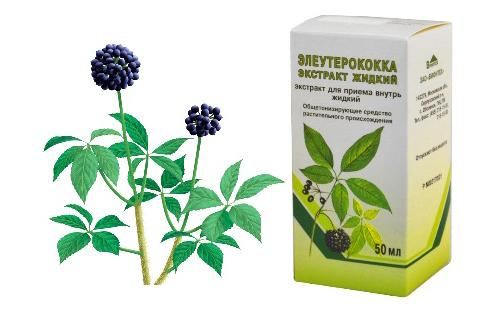 Коробка с экстрактом и рисунок растения