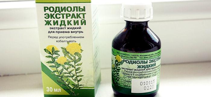 аптечный растительный адаптоген настойка Родиолы