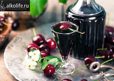вишневая наливка на водке фото